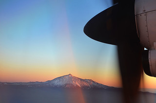 Teide from Binter plane, Tenerife | by Snapjacs