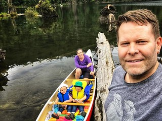 Stoked to finally get the kids out in the canoe for a paddle... they loved and were asking if they could go out again last night before bed. They really liked when the eagle flew down and grabbed a fish right out of the water, and then ate it up on a tree | by Chris Young 43