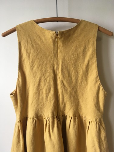 A Summer Dress:  McCall's 7774 in Yellow Linen | by patternandbranch