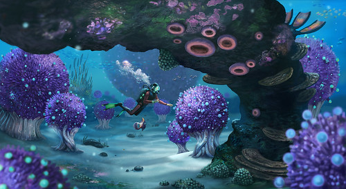 Subnautica Concept Art | by PlayStation.Blog