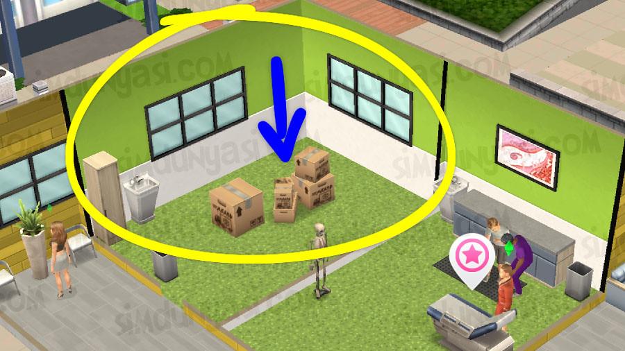The Sims Mobile Surgeon Market Square Hospital Çarşı Meydanı Hastane Cerrah Kariyeri
