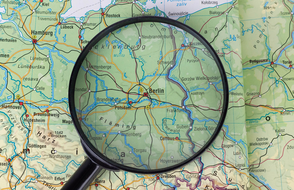 Berlin on map under a magnifying glass | 📷 Stock Photos / F… | Flickr