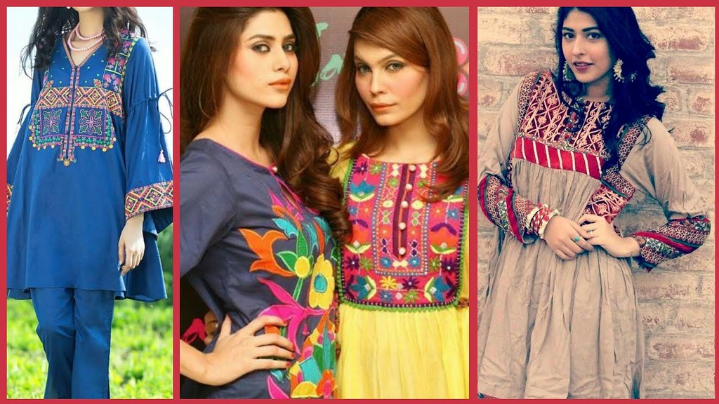 Latest Embroidered Shirts Embroidered Designs Dress Colle Flickr