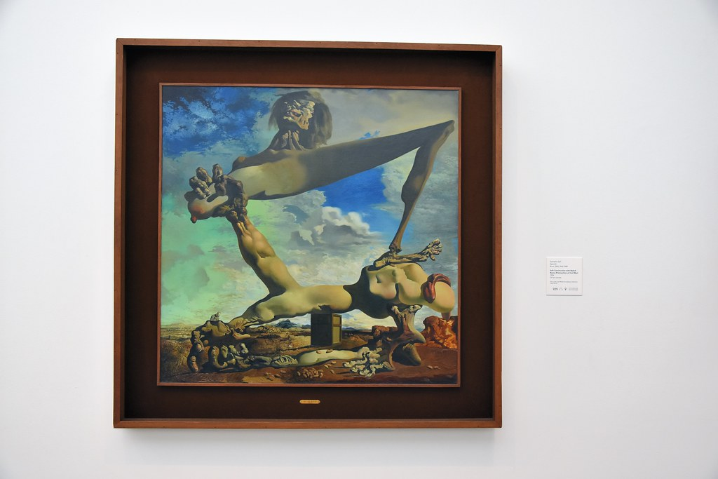 salvador dalí soft construction with boiled beans