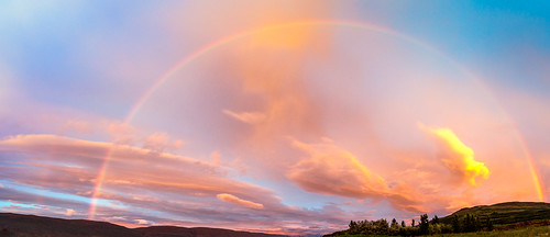 Rainbow in a midnight sunset | by Riverman - Armann