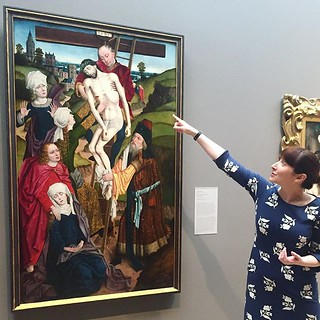 "Plan your visit to the DMA this week to marvel at our European Art Collection's new and buzz-worthy acquisition. This German Renaissance masterpiece, titled ""The Descent from the Cross"" by artist Derick Baegert, was painted around 1480-1490 and is this fi 