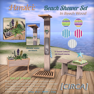 @ On9 event | [CIRCA] - :Hanalei: - Beach Shower Set - Beech Wood | by Cherelle Capra - [CIRCA] Living