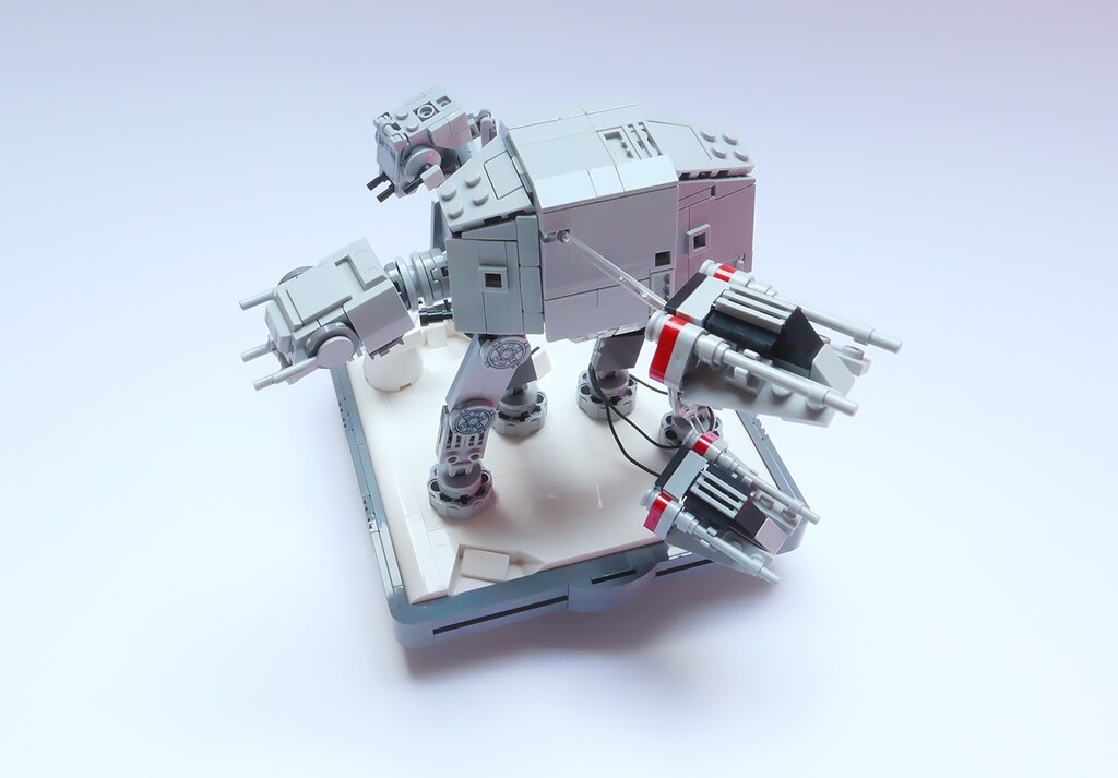 Nanofigure Scaled At At Lego Moc V40 Instructions Lxf A Flickr