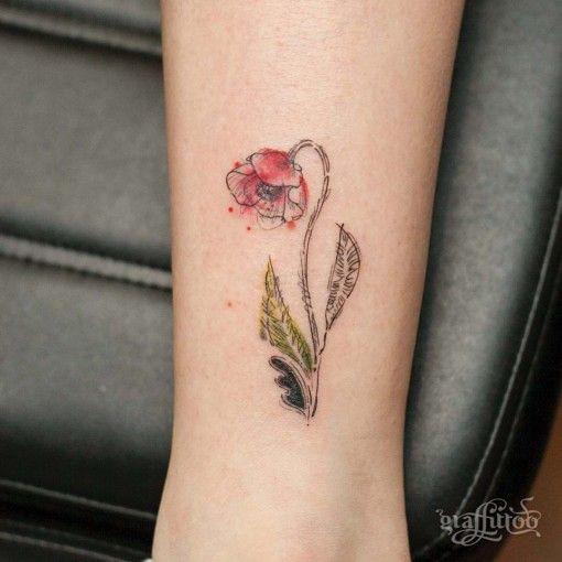Flower tattoos poppy flower small tattoo via flowers flickr flower tattoos poppy flower small tattoo by flowersdottn mightylinksfo