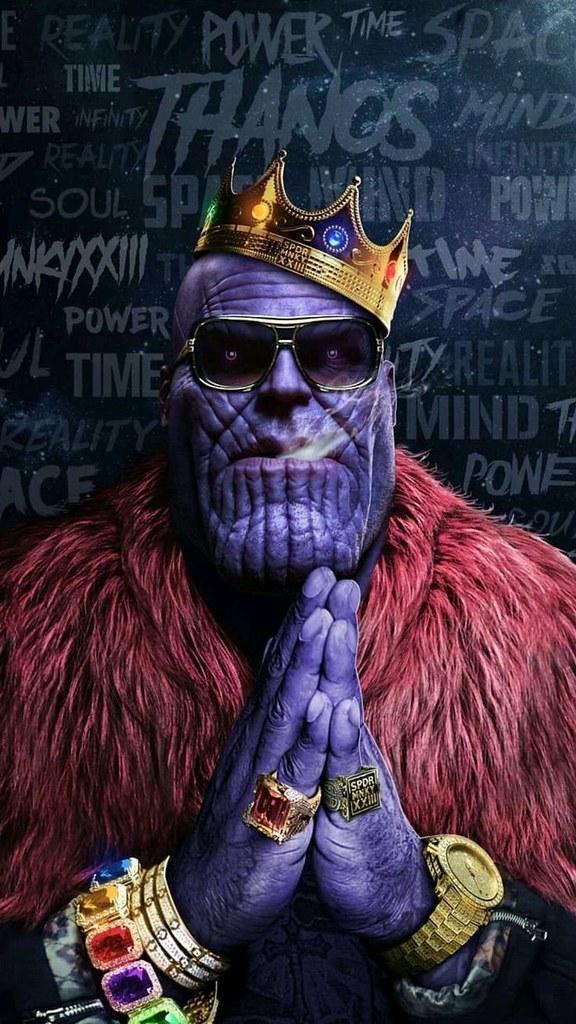 ... Fortnite Wallpaper : Avengers Thanos Hip Hop Crown Gold Chains