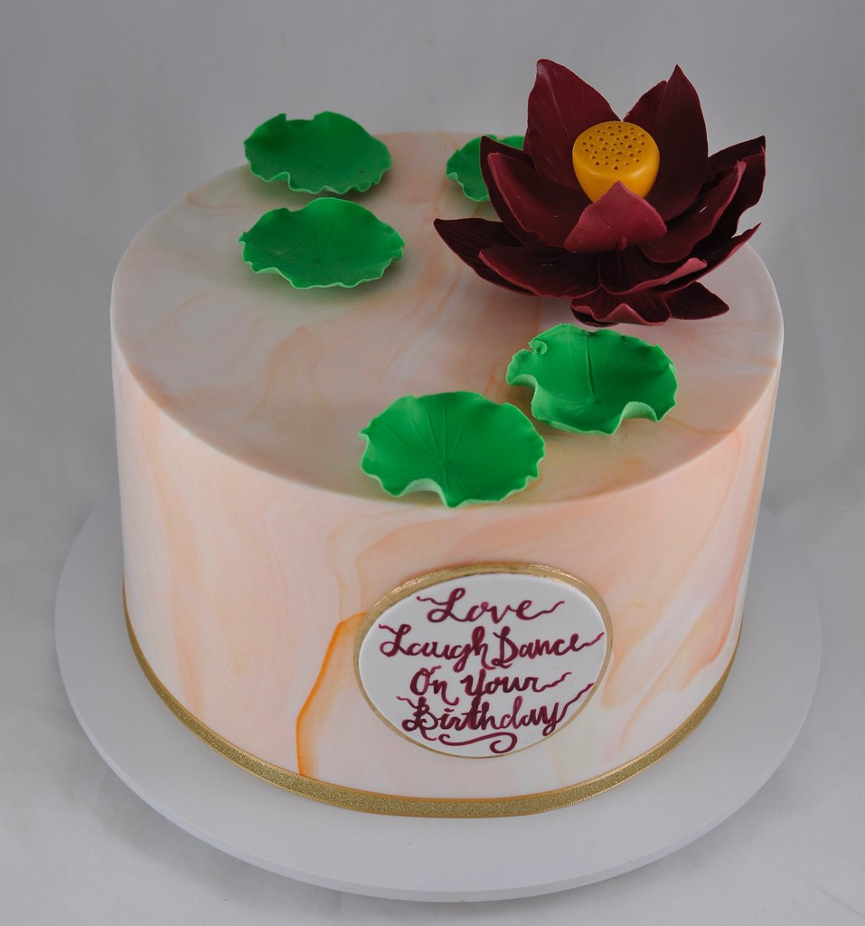 Lotus Flower Birthday Cake Jenny Wenny Flickr