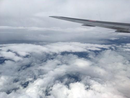 帰りの飛行機から見た雲
