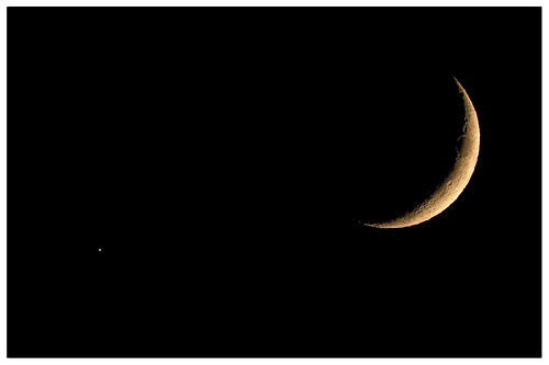 Venus and the Moon | by lennycarl08