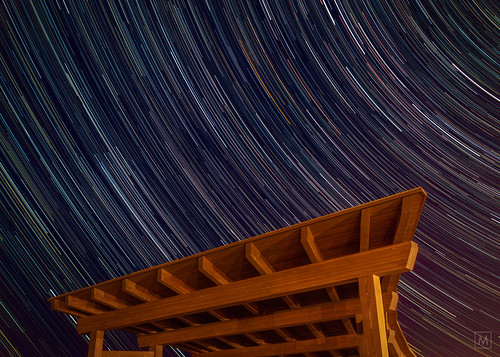 Timber Frame, Star Trails (cool edit) | by mbeganyi