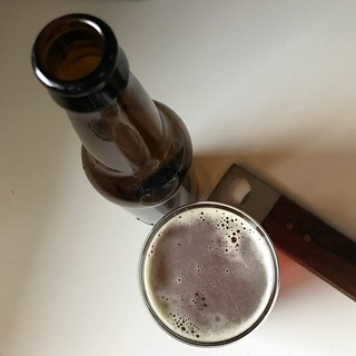 "tasted our first homemade homebrew today, an amber ale that were calling ""primero uno"" #homebrewing #homebrew #adventuresinhomebrewing #beer 
