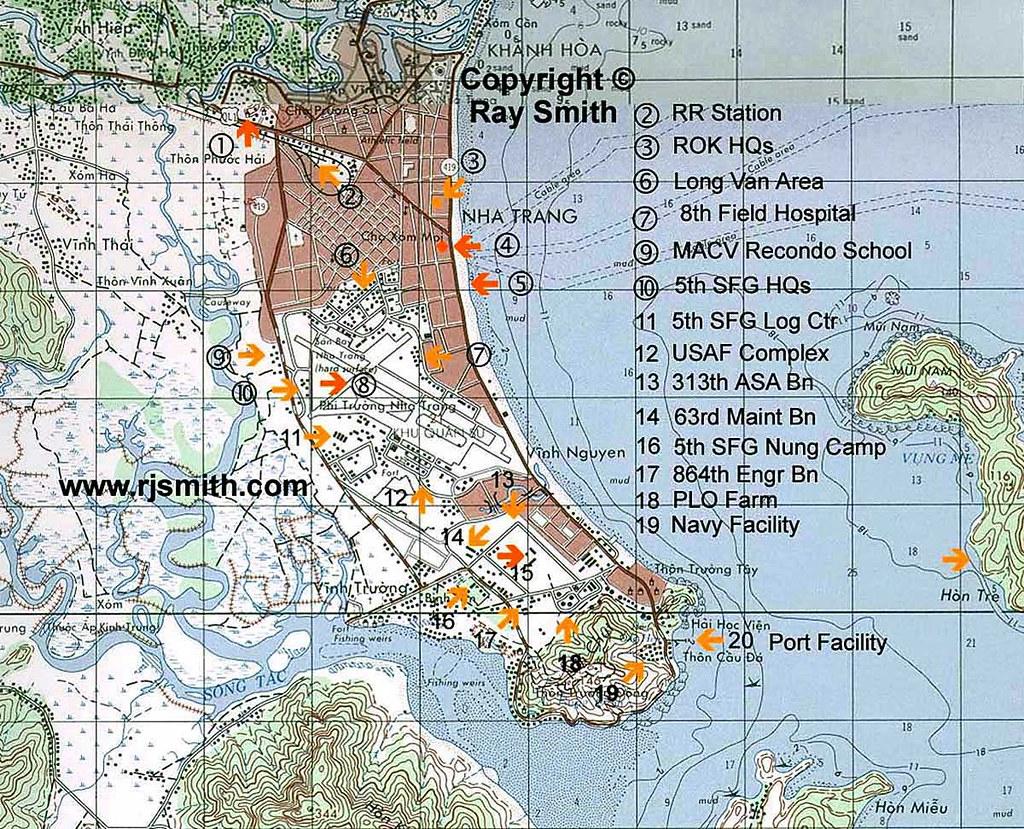 Nha Trang Vietnam Map.Map Of Nha Trang Showing The City And Facilities Of Nha Tr Flickr