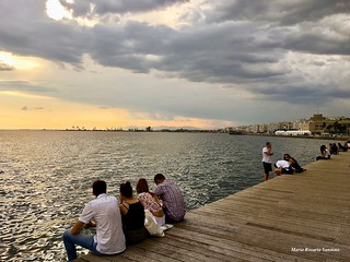 Waiting for the sunset (#Thessaloniki, Greece) | by Maria Rosaria Sannino/images and words