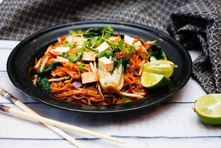 Pad Thai With Tofu and Green Vegetables With lime | by wuestenigel
