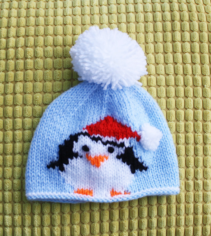 3a Christmas Penguin Beanie Hat Knitting Pattern Pizpaw Patterns