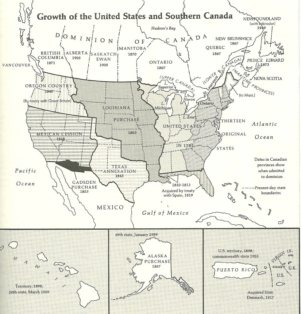 Map Of Usa 1776.Historical Map Of Usa 1776 1959 Showing The Steps By Whic Flickr