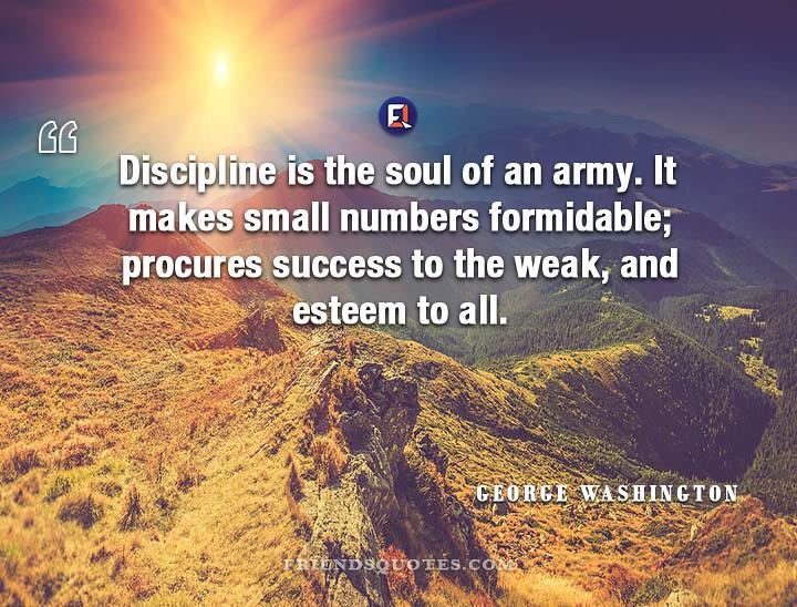 George Washington Quote Discipline Soul Army Discipline Is Flickr