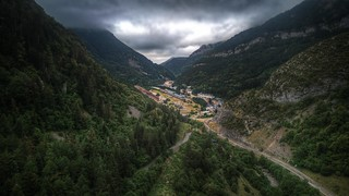 Canfranc International Railway Station in the middle of the valley | by Petaqui