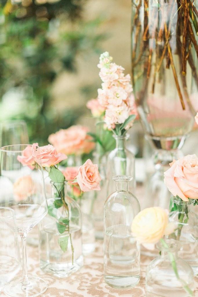 Weddings Flower Arrangements Blush And Pink Bud Vase Cen Flickr