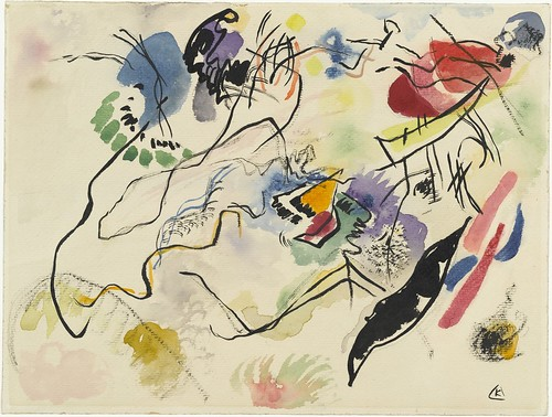 Wassily Kandinsky, Watercolor No. 14 (Aquarell No. 14) (1913) | by rosswolfe1