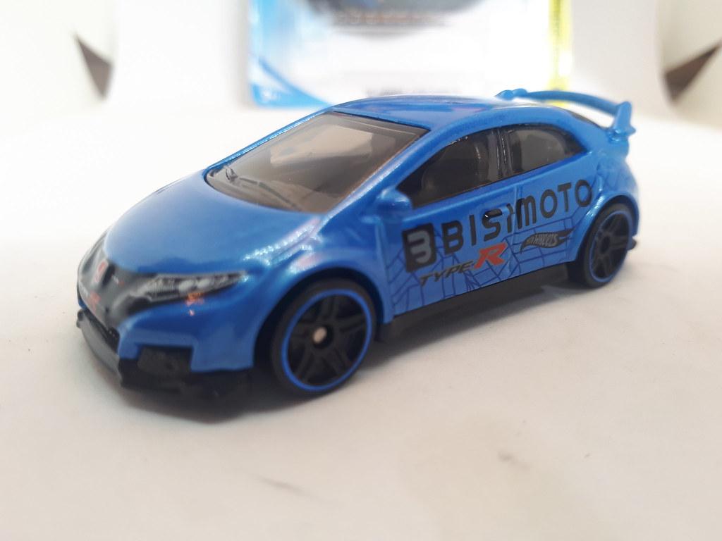 Blue 1:64 Bisimoto Hot Wheels /'16 Honda Civic Type R Loose