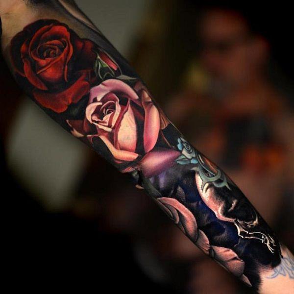 Flower Tattoos Realistic Floral Sleeve By Nikko Hurtado Flickr