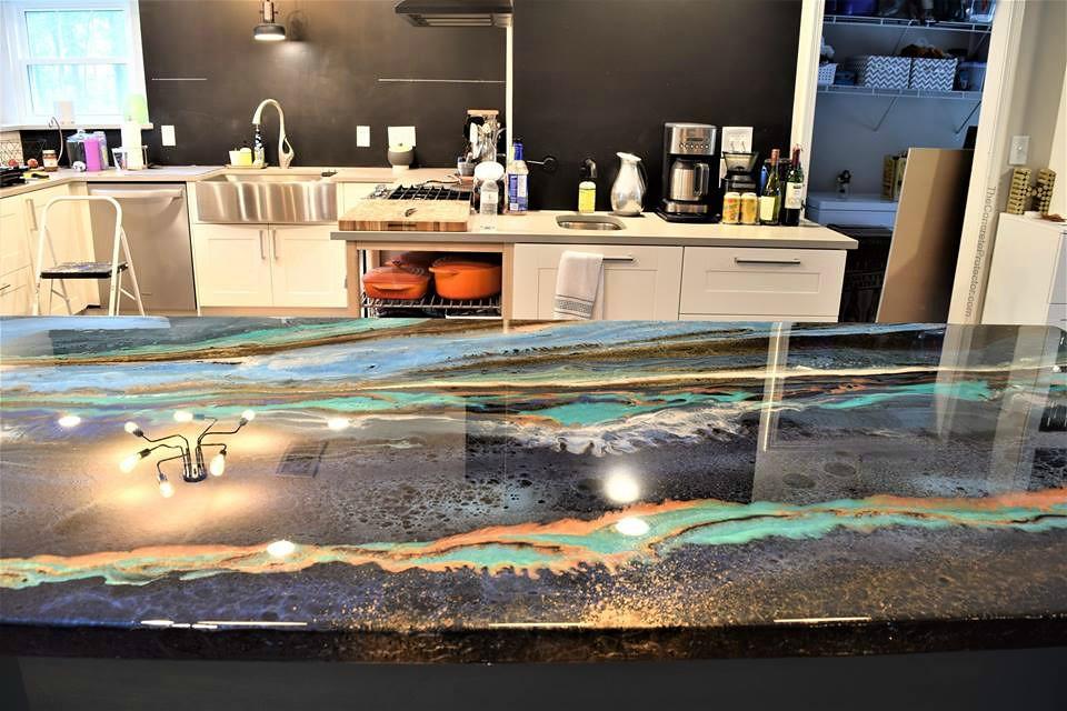 ... Metallic Marble CounterTop  Artisan Concrete U0026 Surfaceworks  Houston,  TX | By Decorative Concrete