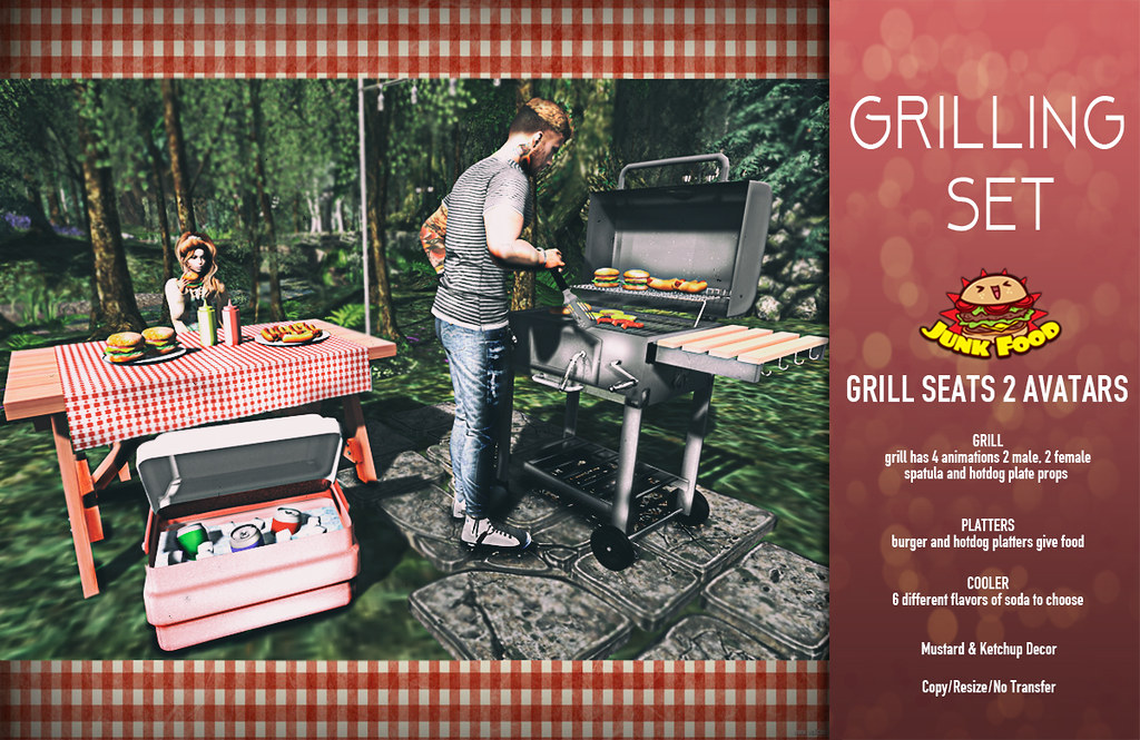 Junk Food Grilling Set Grilling Set With A Grill That Se Flickr
