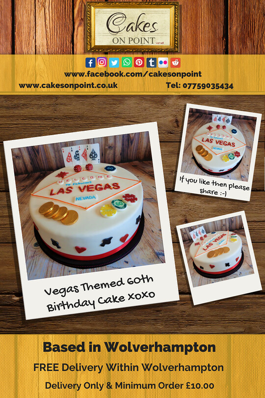 Vegas Themed 60th Birthday Cake