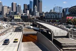 Driving on top of the SR 99 tunnel | by WSDOT