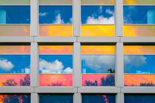 Multicolored window reflections | by FotoCorn