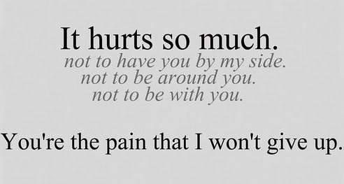 Sad Love Quotes You39re The Pain That I Wont Give Up Flickr