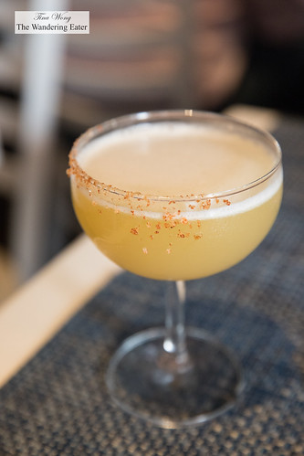 El Joven (Tequila, pineapple juice, agave, ginger, lime, bianco, paprika, sea salt) | by thewanderingeater