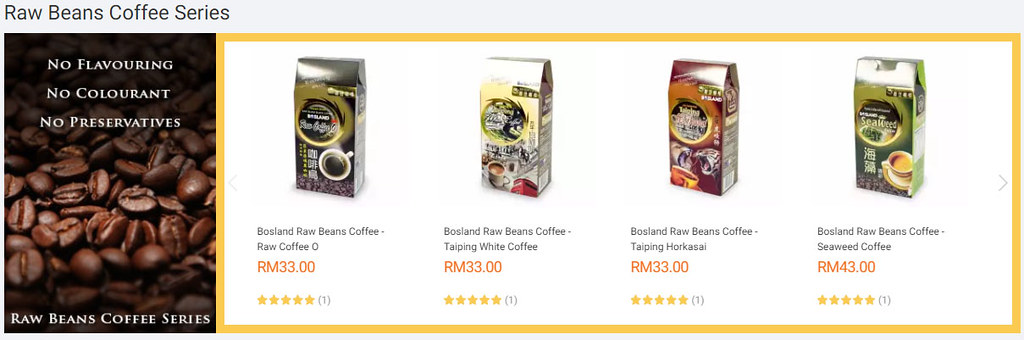 Raw Beans Coffee Series on Lazada Store