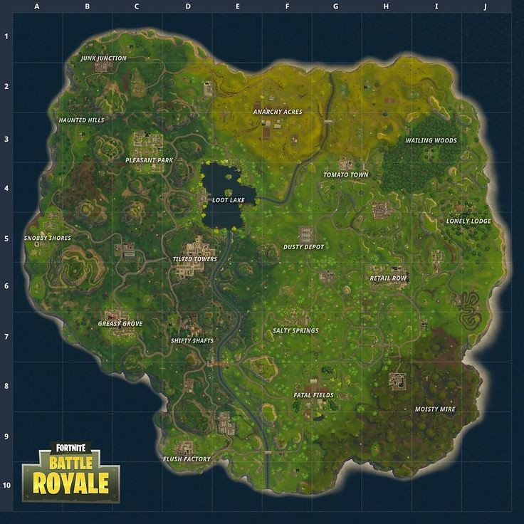 Lovely By Fortnite Wallpaper : Check Out The New Map Of Fortnite: Battle Royale! |  By