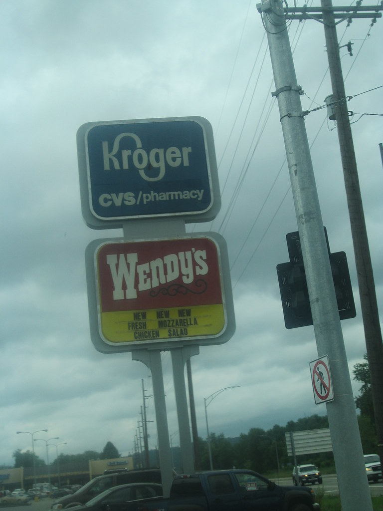 kroger cvs wendy s shared sign martins ferry oh may 2 flickr