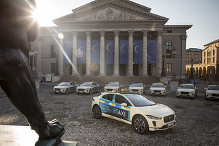 JAGUAR TO LAUNCH GERMANY'S FIRST ALL-ELECTRIC          TAXI FLEET IN MUNICH | by jaguarmena