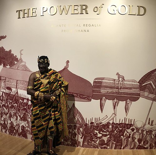 "This weekend is your last chance to see ""The Power of Gold: Asante Royal Regalia from Ghana,"" made possible by the support of our co-presenters @TXInstruments and @pncbank. From glimmering goldweights to brightly colored kente cloths, and all of the stori 