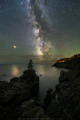 Mars And The Milky Way On The Bold Coast Shot With A Pre