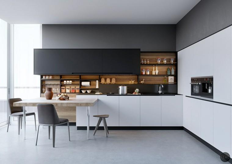 Disegni Di Cucine Moderne.Disegni Di Cucine Moderne In Nero Con Dettagli In Legno Flickr