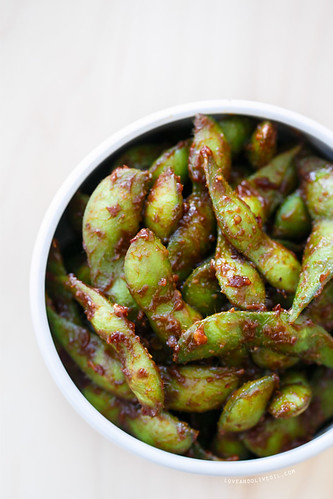 68 - Miso Chilli Edamame Recipe | by Onlinefoodblog