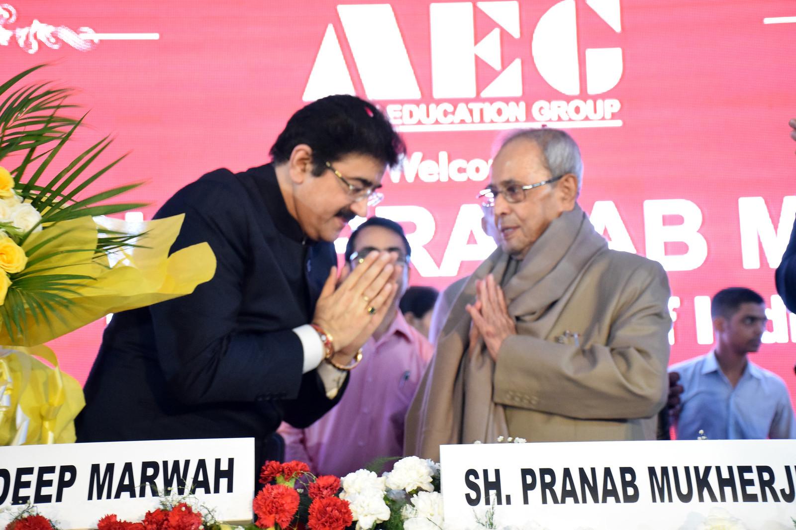 Shri. Pranab Mukherjee at Asian Education Group