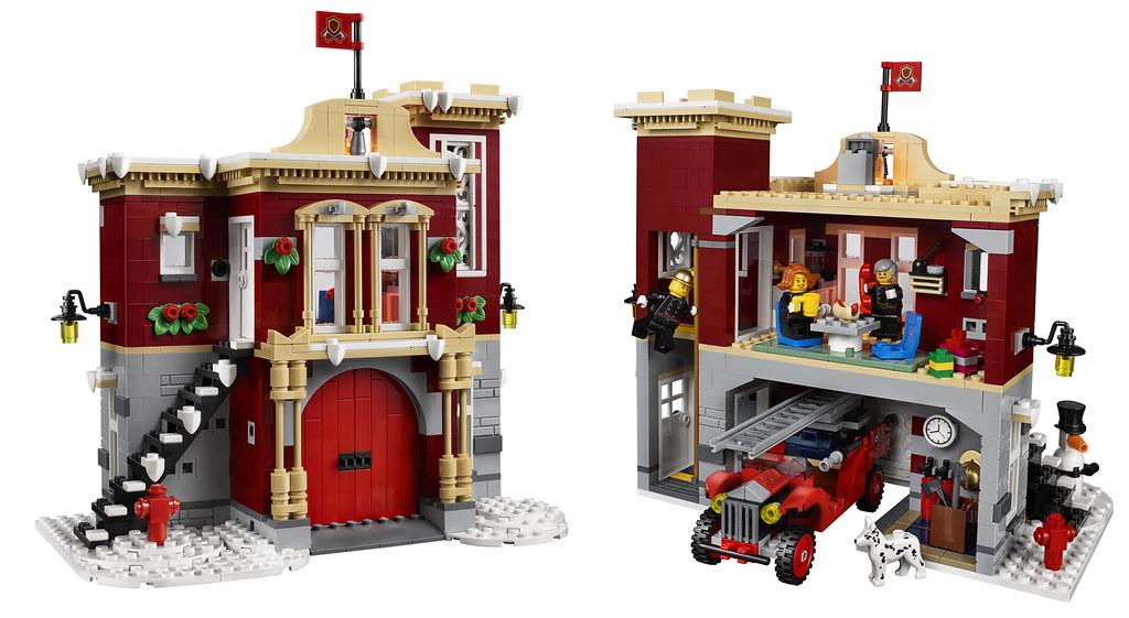 ... LEGO 10263 Creator WINTER VILLAGE FIRE STATION   by LegoDad42