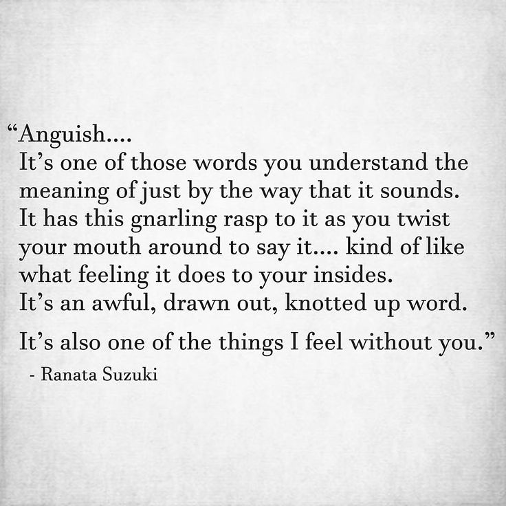 quotes about anguish