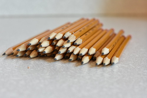 Pencils waiting for students | by RiddellArchives