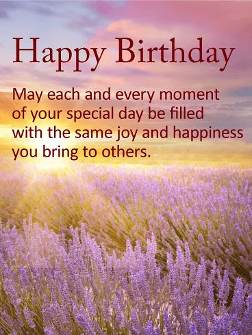Best Birthday Quotes : Lavender Happy Birthday Wishes Card…   Flickr